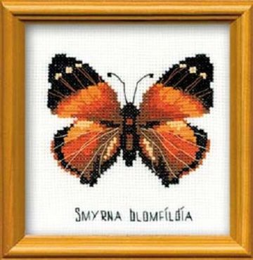 Riolis Cross Stitch Kit. Nymphalidae Butterfly